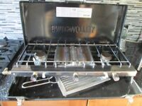 Camping stove double burner grill