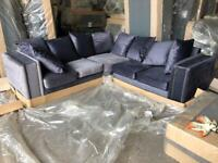 Brand new luxury Plush velvet Fabric sofa sets available on clearance sale offer