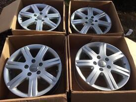 """Brand New Genuine Audi 18"""" alloy wheels + pressure sensors Q7"""