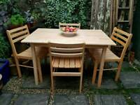 Solid Wood Kitchen Table & Four Chairs