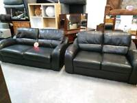 Black leather 3&2 suite for 185