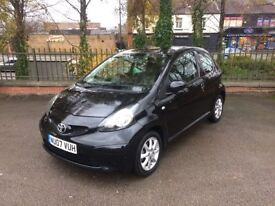 2007 TOYOTA AYGO BLACK VVT-I 1.0L PETROL 63K LOW MILEAGE FULL SERVICE HISTORY 2 KEYS 2 KEEPERS CLEAN