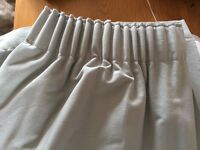 John Lewis Plain Green Pleated Curtains