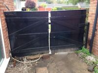 Heavy solid pair of garden/driveway gates