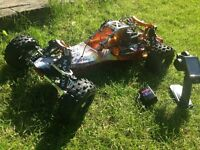 HPI Baja 1:5 Petrol Buggy RTR tons of upgrades not FG MCD