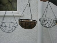 3 Large Metal Hanging Baskets for £8.00