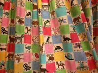 Curtains for children's bedroom or nursery, colourful unisex alphabet design