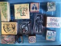 23 Rubber stamps for card making