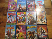 12 Children DVD's including Madagascar, Babe, Open Season,Spy Kids,Cloudy with a chance of meatballs