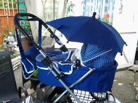 Dolls pram used only twice excellent condition
