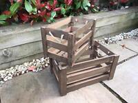 Two Wooden Storage / Apple Crates indoor or outdoor use