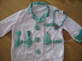 Kids Doctors outfit and supplies (age 3-5)