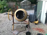 Electric cement mixer used for garden project 2owners