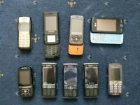 Lot of old phones