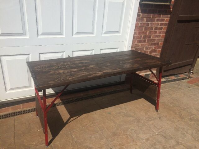 Rustic Dining Table With Trestle Legs Indoor Or Outdoor Use Very Heavy And Good Quality In Derby Derbyshire Gumtree