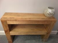 Stunning oak console table. Immaculate condition .