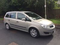 VAUXHALL ZAFIRA 1.6 7 SEATER LIFE 5dr 2008 LOW MILEAGE 12 MONTHS MOT GREAT FAMILY CAR