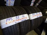 matching set 195 55 16 CONTIS 8mm TREAD £50 PAIR SUP & FITD £90 SET OF 4(LOADS MORE AV 7-DAYS) TEXT