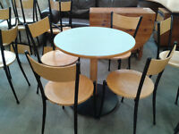 Cafe style table with 4 chairs (delivery availabe)