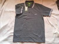 Hugo boss men's polo shirt short sleeves grey size M £15