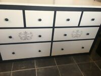 VERY LARGE NEWLEY UPCYCLED PINE CHEST OF DRAWERS LOVELY