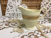 REDUCED c1930s-51 Vintage Hanley England New Hall 22kt Gold gilding Cream Jug