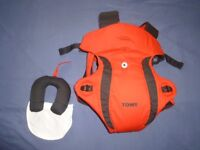 Tomy Freestyle Premier Red Black Baby Carrier 0-12 Months
