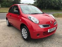 NISSAN MICRA VISIA 3DR RED 1.2 2010
