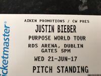 Justin Bieber Tickets Dublin x2