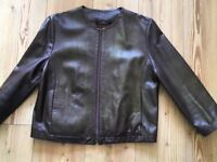 Marks and spencer leather jacket size 14