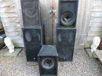 JBL AND T&M 215 SPEAKERS