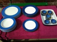 25 Items Of Blue/White Tableware-See Below For Description-Proceeds To Local Charity
