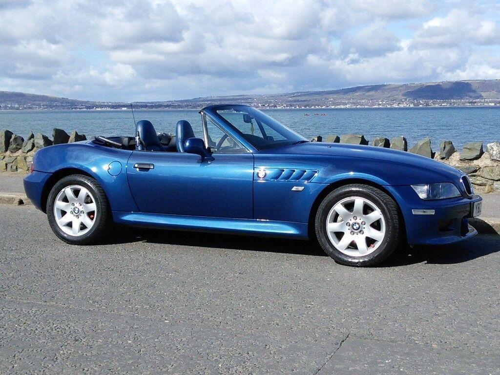 Bmw Z3 Only 49500 Miles Immaculate Condition 1 8 Rare Special Blue Leather Interior In