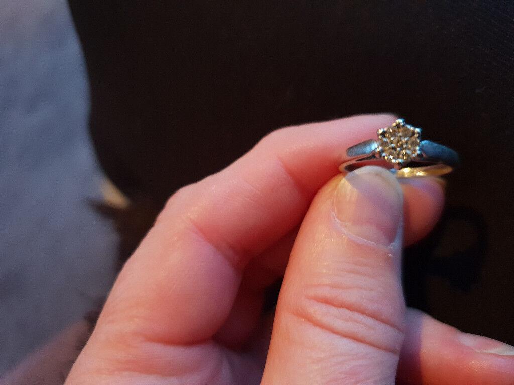 White gold 18 carat 015 diamond cluster ring | in Kirkcaldy, Fife ...