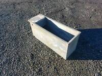 Galvanised water trough for livestock