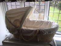 Mamas & Papas Moses Basket and bedding
