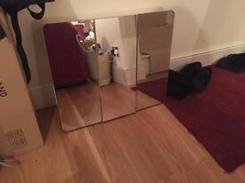 Mirror fronted bathroom wall cabinet