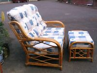Rattan wicker habitat outdoor sofa and stool, conservatory furniture, cane patio set, garden sofa