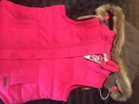 BNEW/ tags Ladies Padded gillet with removable hood