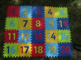 Numbers 1-20 foam mat