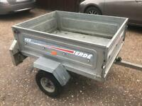 Erde 122 galvanised tipping trailer