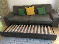 IKEA large sofa bed grey