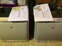 2x HP2600n colour laser printers