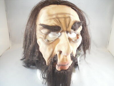 Mens Adult Funny Deluxe Cave Man Full Overhead Mask W/ Hair Costume Accessory](Caveman Mask)