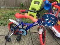 Spider-Man 1st bike with Spider-Man helmet