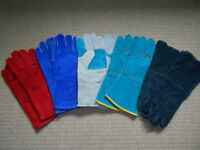 BRAND NEW 5 PAIRS WELDING LEATHER GLOVES WELDERS GAUNTLETS HEAT RESISTANT SAFETY PPE