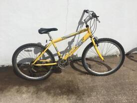 Teenagers yellow bicycle