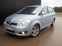 2007 (57) Toyota Corolla Verso 1.8 VVT-i T3 5dr 1 Previous Owner 2 keys 7 Seats May PX