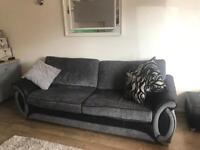 4 seater couch, cuddle sofa, and storage footstool