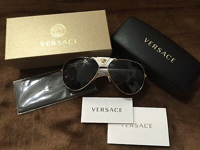 Authentic VERSACE Aviator MOD.2150-Q 1341/87 Sunglasses